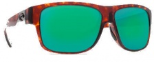 Costa Del Mar Caye Sunglasses Tortoise Frame Sunglasses - Green Mirror / 580G