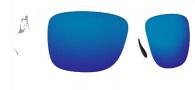 Costa Del Mar Caye Sunglasses White Frame Sunglasses - Blue Mirror / 400G