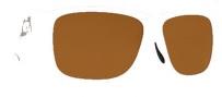 Costa Del Mar Caye Sunglasses White Frame Sunglasses - Dark Amber / 400G
