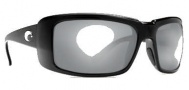Costa Del Mar Cheeca Sunglasses Black Frame Sunglasses - Green Mirror / 580G