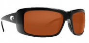 Costa Del Mar Cheeca Sunglasses Black Frame Sunglasses - Dark Amber / 580P