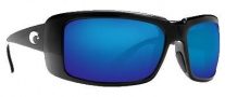 Costa Del Mar Cheeca Sunglasses Black Frame Sunglasses - Blue Mirror / 400G