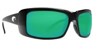 Costa Del Mar Cheeca Sunglasses Black Frame Sunglasses - Green Mirror / 400G
