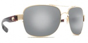 Costa Del Mar Cocos Sunglasses Gold Frame Sunglasses - Silver Mirror / 580G