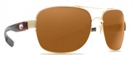 Costa Del Mar Cocos Sunglasses Gold Frame Sunglasses - Dark Amber / 400G