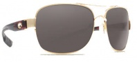 Costa Del Mar Cocos Sunglasses Gold Frame Sunglasses - Dark Gray / 400G