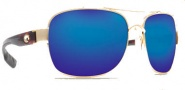 Costa Del Mar Cocos Sunglasses Gold Frame Sunglasses - Blue Mirror / 580G