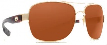 Costa Del Mar Cocos Sunglasses Gold Frame Sunglasses - Copper / 580G
