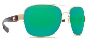 Costa Del Mar Cocos Sunglasses Gold Frame Sunglasses - Green Mirror / 580G