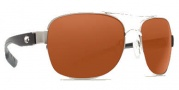 Costa Del Mar Cocos Sunglasses Palladium Frame Sunglasses - Copper / 580P