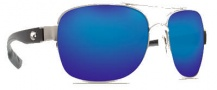 Costa Del Mar Cocos Sunglasses Palladium Frame Sunglasses - Blue Mirror / 400G