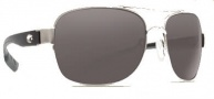 Costa Del Mar Cocos Sunglasses Palladium Frame Sunglasses - Dark Gray / 400G