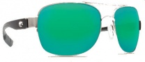 Costa Del Mar Cocos Sunglasses Palladium Frame Sunglasses - Green Mirror / 400G