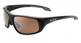 Bolle Rainier Sunglasses Sunglasses - 11610 Shiny Black / Dark Brown Gunmetal