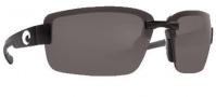 Costa Del Mar Galveston Sunglasses - Black Frame Sunglasses - Gray / 580P