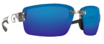 Costa Del Mar Galveston Sunglasses - Silver Frame Sunglasses - Blue Mirror / 580P