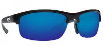 Costa Del Mar Indio Sunglasses - Black Frame Sunglasses - Blue Mirror / 580P