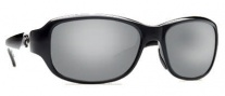 Costa Del Mar Las Olas Sunglasses- Black Frame Sunglasses - Silver Mirror / 580G