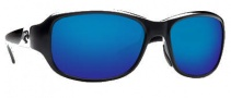 Costa Del Mar Las Olas Sunglasses- Black Frame Sunglasses - Blue Mirror / 580G