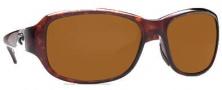 Costa Del Mar Las Olas Sunglasses - Tortoise Frame Sunglasses - Dark Amber / 400G