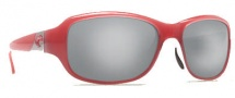 Costa Del Mar Las Olas Sunglasses - Coral White Frame Sunglasses - Silver Mirror / 580G