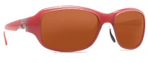 Costa Del Mar Las Olas Sunglasses - Coral White Frame Sunglasses - Copper / 580P
