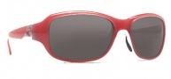 Costa Del Mar Las Olas Sunglasses - Coral White Frame Sunglasses - Dark Gray / 400G