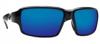 Costa Del Mar Peninsula Sunglasses - Black Frame Sunglasses - Blue Mirror / 580G