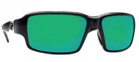 Costa Del Mar Peninsula Sunglasses - Black Frame Sunglasses - Green Mirror / 580G