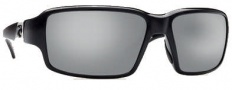 Costa Del Mar Peninsula Sunglasses - Black Frame Sunglasses - Silver Mirrror / 580G