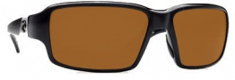 Costa Del Mar Peninsula Sunglasses - Black Frame Sunglasses - Amber / 580P