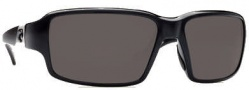 Costa Del Mar Peninsula Sunglasses - Black Frame Sunglasses - Gray / 580P