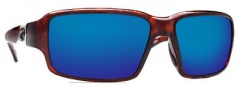 Costa Del Mar Peninsula Sunglasses - Tortoise Frame Sunglasses - Blue Mirror / 400G