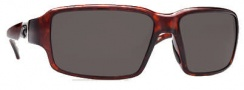 Costa Del Mar Peninsula Sunglasses - Tortoise Frame Sunglasses - Dark Gray / 400G