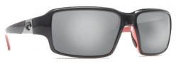 Costa Del Mar Peninsula Sunglasses - Black Coral Frame Sunglasses - Silver Mirror / 580G