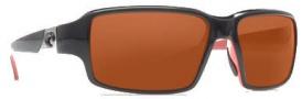 Costa Del Mar Peninsula Sunglasses - Black Coral Frame Sunglasses - Copper / 580P