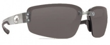 Costa Del Mar Seadrift Sunglasses - Silver Frame Sunglasses - Gray / 580P