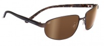 Serengeti Trapani Sunglasses Sunglasses - 7600 Satin Dark Brown Tortoise / Drivers Gold Polarized