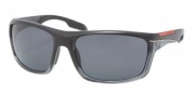 Prada Sport PS 01NS Sunglasses Sunglasses - GAI5Z1 Black Demi Shiny / Black Polarized Gray