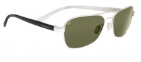 Serengeti Volterra Sunglasses Sunglasses - 7595 Shiny Silver / Black Ivory 555NM Polarized