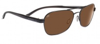 Serengeti Volterra Sunglasses Sunglasses - 7594 Satin Black Gray Stripe / Drivers Polarized