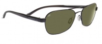 Serengeti Volterra Sunglasses Sunglasses - 7593 Satin Black / Gray Stripe / 555NM Polarized