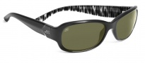 Serengeti Chloe Sunglasses Sunglasses - 7622 Shiny Black Zebra / 555NM Polarized