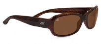 Serengeti Chloe Sunglasses Sunglasses - 7912 Shiny Dark Brown Stripe Tortoise / Polarized Drivers
