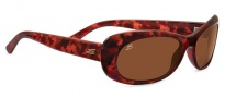 Serengeti Bella Sunglasses Sunglasses - 7909 Shiny Red Tortoise / Polarized Drivers