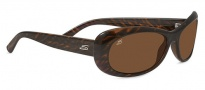 Serengeti Bella Sunglasses Sunglasses - 7910  Dark Brown Stripe Tortoise / Polarized Drivers