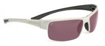 Serengeti Corrente Sunglasses Sunglasses - 7695 Metallic Pearl / Shiny Black / Polar PHD 555NM