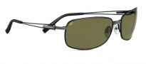 Serengeti Trieste Sunglasses Sunglasses - 7671 Gunmetal / Black Tannery / 555NM Polarized
