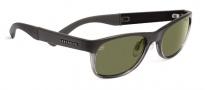 Serengeti Piero Sunglasses Sunglasses - 7636 Satin Dark Gray / Shiny Crystal Medium Gray / 555NM
