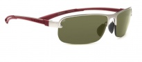 Serengeti Strato Sunglasses Sunglasses - 7684 Satin Silver / Polar PHD 555NM